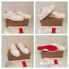 christian louboutin white low top unisex men women trainers shoes