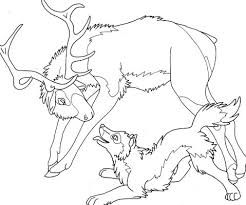 elk wolf coloring adults root inspirations
