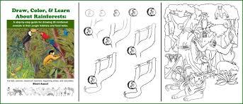 coloring pages of animals in their habitats amazon rainforest of south america