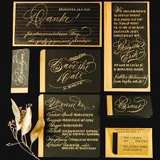 federflug calligraphy wedding stationery invitations
