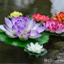 best artificial decorations lotus flower diy craft fish tank water