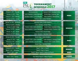 bpl 2017 schedule time table psl schedule 2017 psl t20 fixtures time table