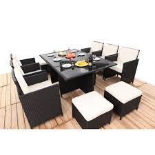havanna 11 piece 10 seater outdoor dining set bare outdoors