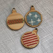 bamboo ornaments to cross stitch girlontherocks