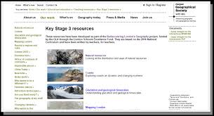 key stages 3 geography resources from the royal geographical