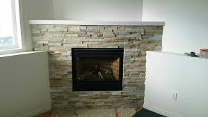 Stacked Stone Around Fireplace by Grout Or Caulk Gas Fireplace Stacking Stone Ceramic Tile Advice