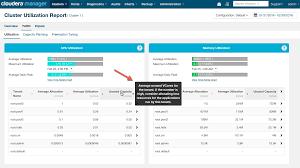 utilization report template cluster utilization reports 5 7 x cloudera documentation