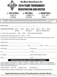 3 on 3 basketball tournament registration form template
