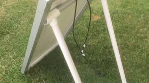 Pvc Pipe Flag Pole Solar Panel Stand For Under 10 Youtube