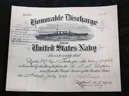 honorable discharge certificate 1923 us navy seaman 2nd class honorable discharge certificate