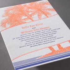 letter press tropical escape letterpress invitation invitations by