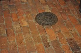 vintage brick floor thecottageatroosterridge