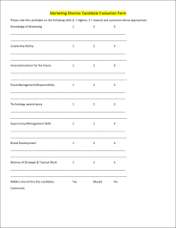 8 marketing evaluation form samples and templates
