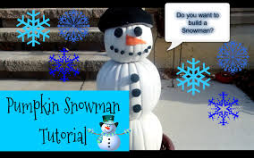 pumpkin snowman tutorial holiday decor youtube