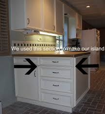 build a kitchen island out of cabinets repurposing kitchen cabinets just spiff it
