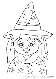 kids free halloween coloring sheets cute witch www