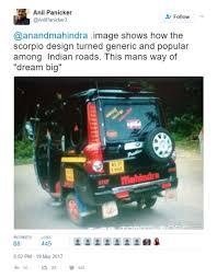 mahindra thar modified to wrangler anand mahindra gifts mahindra supro to auto rickshaw owner