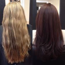 how to get cherry coke hair color blonde to cherry cola red brown cut color and style by samantha