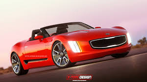 hyundai convertible render kia gt4 stinger cabrio concept the korean car blog