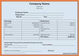 salary receipt template 5 salary statement format in excel free download sample salary slip