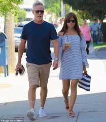 selma blair dons striped dress for lunch with ron carlson daily