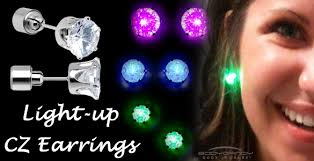 light up earring studs 1 pair fashion glowing light up party led earrings drop