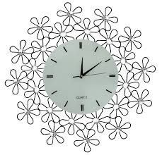 Decorative Metal Wall Clocks Daisy Lines Decorative Metal Wall Clock Metal Wall Clock Wall