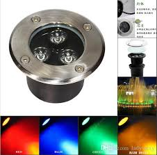factory price 85 265v 3w rgb led underground light buried led l