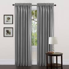 stunning red and gray window curtains on with grey walls colorfull