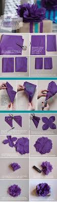 tissue paper flowers printable instructions diy tissue paper topper tutorial the elli blog
