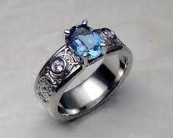 celtic engagement rings blue topaz celtic engagement ring in 14k white gold
