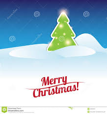 merry christmas card tree template stock vector image 26920031