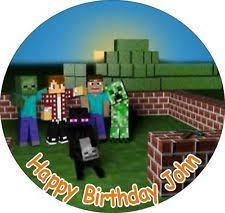 minecraft cake topper minecraft cake toppers minecraft party 7 5 rice paper cake