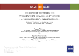 Save The Date Emails Save The Date Ccbe Conference On U0027training Of Lawyers