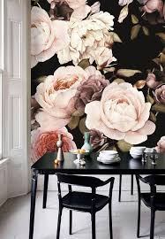 self adhesive removable wallpaper dutch dark vintage floral removable wallpaper wall mural