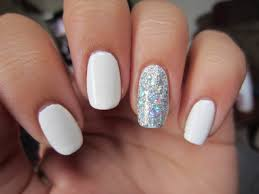 white acrylic nail design how you can do it at home pictures