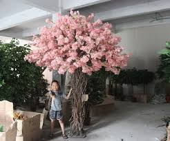 artificial cherry blossom tree without leaves for hotel decoration