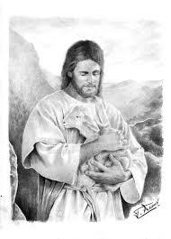 jesus holding a lamb by raimondsy on deviantart