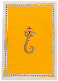 hindu wedding card hindu wedding card in yellow with ganesha sanskrit shloka
