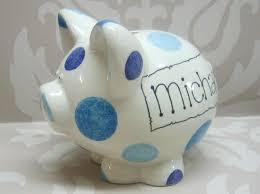 personalised piggy bank ceramics