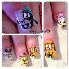 disney nails art goofy pluto handpainted by nailsbylinda