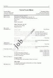 simple resume outline free exles of resumes resume exle objective basic cover