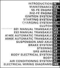 1993 toyota camry repair manual 1993 toyota camry repair shop manual original 3 vol set