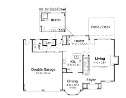 oakmont 8693 4 bedrooms and 2 baths the house designers