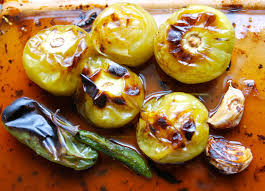 How To Make Roasted Vegetables by Roasted Tomatillo Salsa Verde Recipe