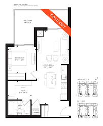 One Madison Floor Plans One Bedroom Den Suites Craftsman Condominium Craftsman Condos