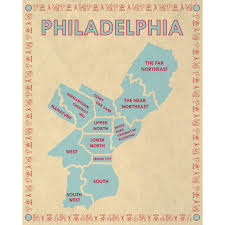 map of philly the philadelphia map company