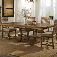 installation trestle dining table with bench above granite stone
