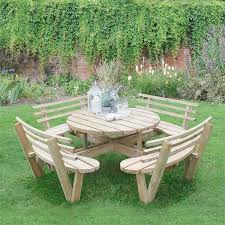 round picnic tables for sale forest garden circular picnic table with seat backs