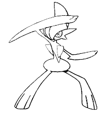 coloring pages pokemon gallade drawings pokemon